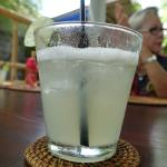 Lime juice in a nice glass