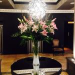 Fresh lilies in reception