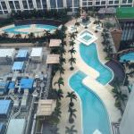 Pool view from 25th floor