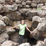 maddie at the entrance to Lava River Cave