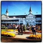 paddock in a Race day in Churchill downs
