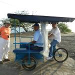 """The pedal taxi, talking to the """"driver"""" &to Julio added to our experience in Corinto."""