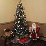 Christmas tree in banquet room