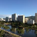 Our beautiful view of the Ala Wai Canal
