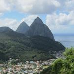 View of the Pitons