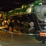 Train inside the museum.