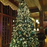 Christmas tree in the main lodge