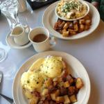 The Quinault benedict and Olson scramble at breakfast