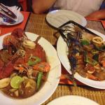 Seafood plate, delicious.