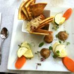 Paprika Hummus Plate ($15. 3 Course Lunch Special)