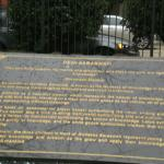 Plaque in front of the Indonesian Embassy