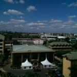 View from seventh floor room window over Nairobi city.