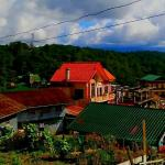 overlooking view  of sagada town