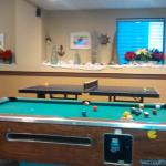 pool, ping pong, wii & xbox games available