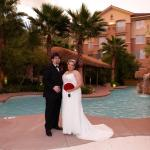 Garden pool sode wedding