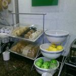 English muffins and great fresh fruits