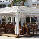 The beach bar/restaurant