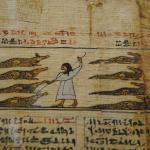 Book of the Dead detail, alligators/crocodiles