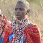 Colourful ladies of nearby village