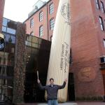 In front of the big bat