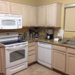 Kitchen (full size refrigerator not pictured) 1 bedroom unit 105M