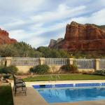 View from Canyon Villa garden of Bell Rock