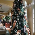 Christmas tree in the grand lobby