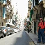 Beautiful Valletta steep streets