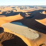 The Namib Desert from helicopter
