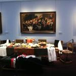A civic guard piece, with table setting.