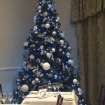 Beautiful Christmas tree in the restaurant