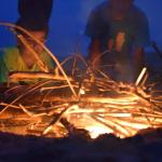 One evening, we built a bonfire on the beach before dinner - the kids LOVED it.