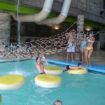 Indoor water park section