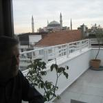 Breakfast with view over Aya Sophia