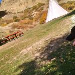 Picnic area with tepee