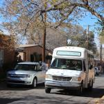 shuttle van, Canyon Road, Santa Fe, Nov 201