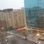 My room on 10th floor overlooking city towards Capitol Hill.