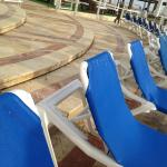 Pool sofas with bird droppings