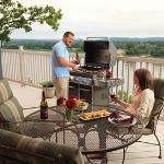 Grill on your own private deck overlooking the Missouri River