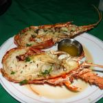 Tough lobster with fishy-tasting tamale