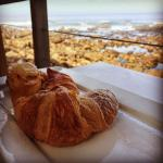 Freshly baked pastries served with a view