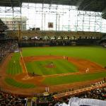 Minute Maid Park with the roof closed