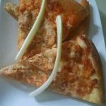 Buffalo chicken pizza ....enjoyed the next day....yum
