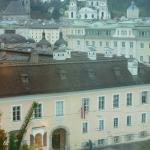 Mozart's house is directly across the square.