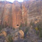 See that hole....there is a tunnel to drive from Zion to Bryce....that is light in the tunnel