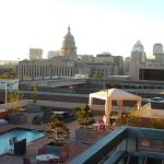 Texas State Capitol from hotel room balcony