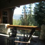 seating with a view outside of lodge