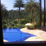 The hotel pool; view from dining room