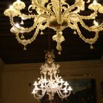 The Murano class chandeliers in the hotel are beautiful.