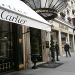 The outside of the hotel next to Cartier